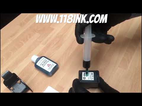 How to Refill a black ink cartridge hp 60 60xl  61 61xl 62 62xl 63 63xl 65 65xl 303 303xl 304 304xl