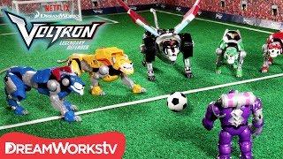 Voltron Soccer Showdown [STOP MOTION]   DREAMWORKS VOLTRON LEGENDARY DEFENDER