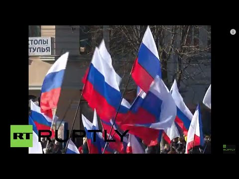 Russia: Simferopol celebrates a year since joining Russian Federation