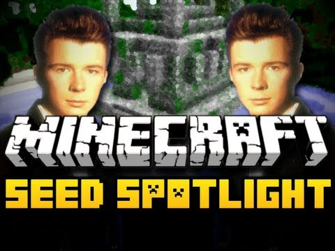 Minecraft Seed Spotlight #19 - RICKROLLIN (HD)