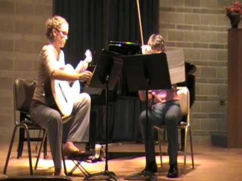 Ferdinando Carulli Duet for Guitar and Violin - Quinn Bachand and Rachel Bekesza