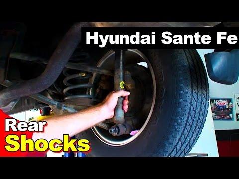 Замена задних амортизаторов Hyundai Santa Fe. Видео!