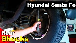 How To Remove Replace Fix Noise From Failed Shock On 2001-2005 Hyundai Santa Fe