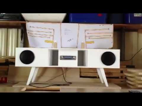 Back Loaded Horn Speaker Box Using Car Stereo Components