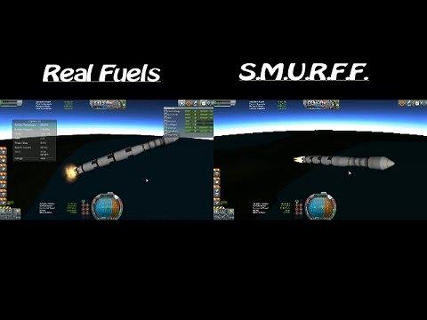 Kerbal Space Program - Real Fuels vs. SMURFF Comparison