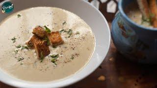 Potato - Garlic Soup | Healthy Soup | Cream of Garlic & Potato Soup Recipe