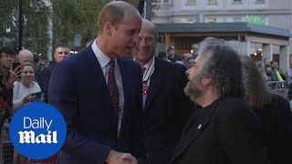 Prince William meets Peter Jackson at London Film Festival