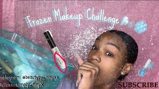 FULL FACE using FROZEN MAKEUP Challenge || TINY'S. MAKEUP