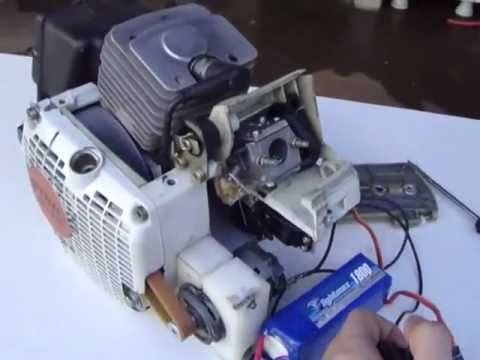 Motor Starter To Chainsaw Youtube