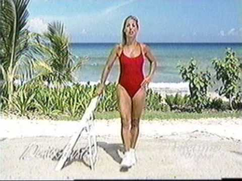 Denise Austin in red