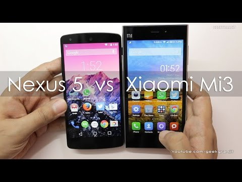 Nexus 5 VS Xiaomi Mi3 Compared Which is better for You