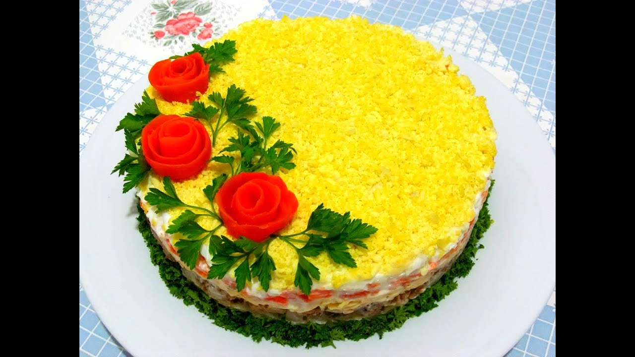 Как украсить салаты рецепты