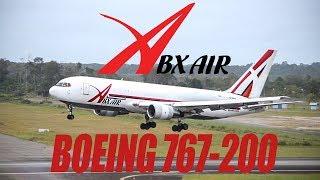 ABX Air cargo Boeing 767-200  SLM2223 Cargo Flight
