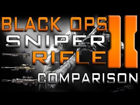 Black Ops 2 Sniper Rifle Comparison (With Sik Sensei)