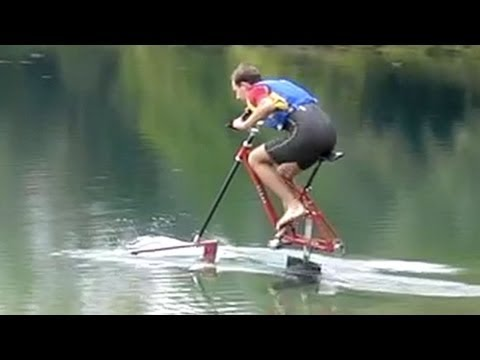 Waterbike Hydrofoil Bicycle Youtube