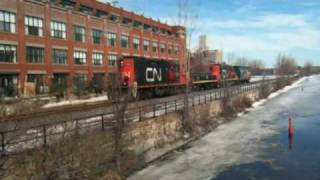 The best Sound to hear of an EMD GP9 567 from CN in Montreal, Canada