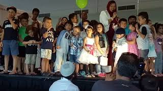 Childrens were participating on the stage in halal expo 2018, Sydney, Australia.