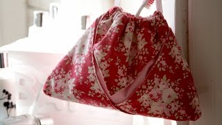 Origami drawstring pouch by Debbie Shore