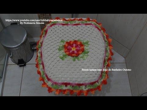 Jogo de Banheiro Outono- PARTE-1 Frente tampa do vaso Music Videos