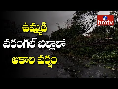 Gusty Winds And Heavy Rains In Warangal | Telugu News | Hmtv