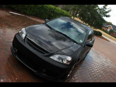 Black Honda Civic With Black Rims Honda Civic Em2 Matte Black