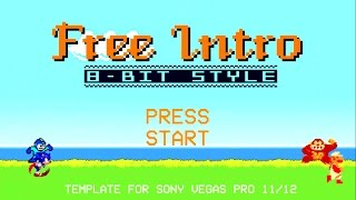 8 Bit Gaming Intro Template For Free Download Sony Vegas