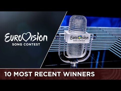 The 10 most recent winners of the Eurovision Song Contest (2007 - 2016)