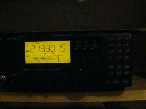 Amateur radio contact on 15 meters