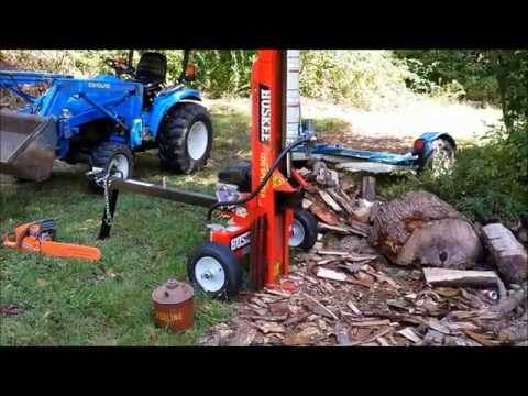 HUSKEE 22 TON LOG SPLITTER REVIEW