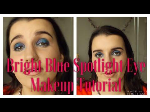 Bright Blue Spotlight Makeup Tutorial