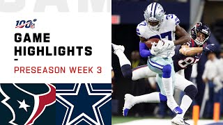 Texans vs. Cowboys Preseason Week 3 Highlights  NFL 2019