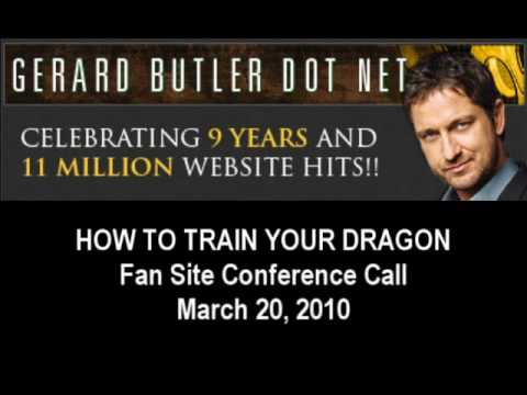 Gerard Butler How To Train Your Dragon Conference Call Interview - Part 2