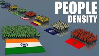 PEOPLE DENSITY Per Country | Population Comparision