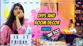 DIYS & Room Decor Under INR 500 | Simple steps to upgrade your room