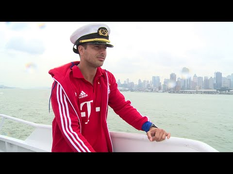 Kapitän Claudio Pizarro und Co. auf dem Hudson River | FC Bayern Münchens Audi Summer Tour in USA