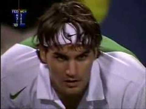 Roger Federer v Carlos Moya: 2004 TMC RR3 Highlights Video