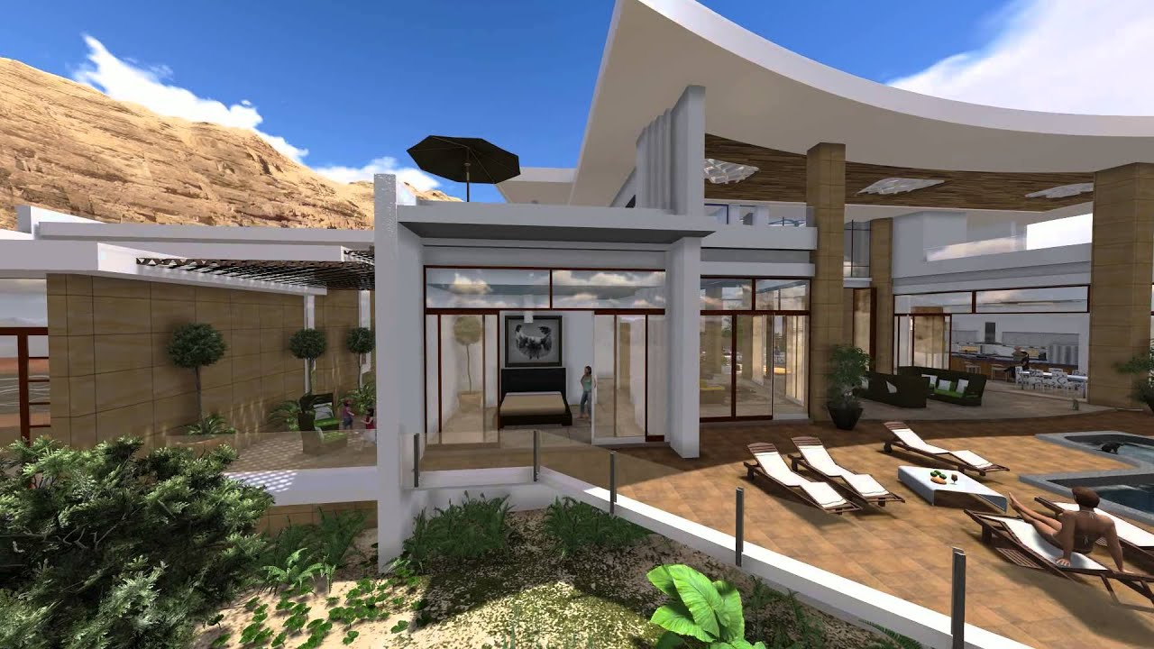 Modern villa design in muscat oman by jeff page of sld architects uae 2013 youtube for Plan architecte villa moderne