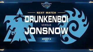 DrunkenBoi vs JonSnow TvZ - Group B Decider Pt. 1 - WCS Challenger NA Season 2