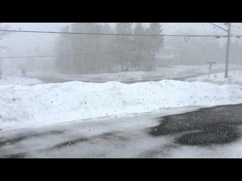 Snowfall in Saint John, NB, Canada