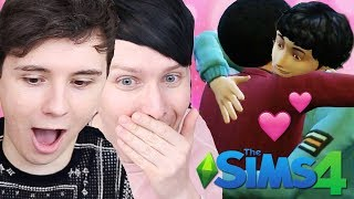 DAB AND EVAN'S EMBRACE - Dan and Phil Play: Sims 4 #50