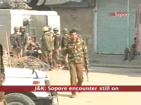 J&K: Sopore encounter continues