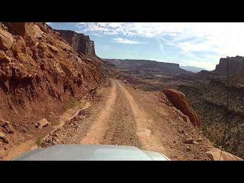 Driving the Shafer Trail Road - Canyonlands National Park, Utah