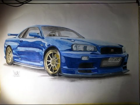 The Drawing Board - JDM Nissan Skyline R34 GTR Drawing