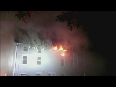 Fire damages apartments in Taftville