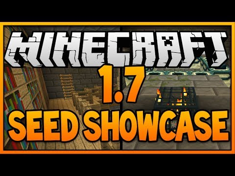 Minecraft 1.7.4 Seed: EXPOSED STRONGHOLD AT SPAWN! (Mineraft 1.7 Seed) (2014) [H