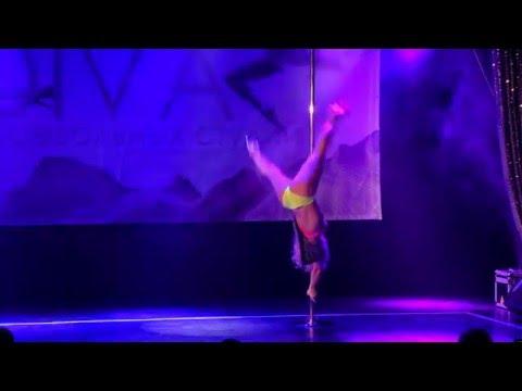 """Зимний отчетный концерт Pole dance в клубе """"Олимпия"""" 25.01.2015. Педагог Ольга Тен."""