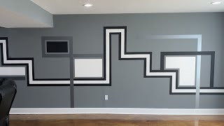 """HOW TO PAINT: """"ABSTRACT"""" ACCENT WALL @paintbydezign"""