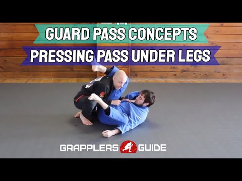 Guard Passing Concepts - Pressing the Pass - Under The Legs - Jason Scully