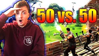 KOMPLETTE ESKALATION in 50 gegen 50 | Fortnite LIVE - ViscaBarca