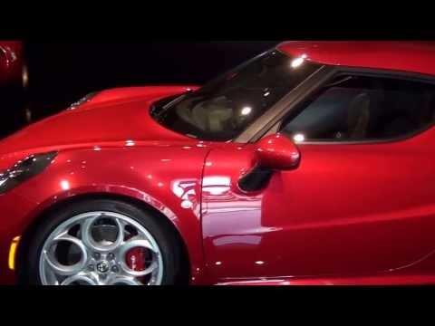 Alfa 4C and Gino Bear at Goodwood Launch 11 July 2013